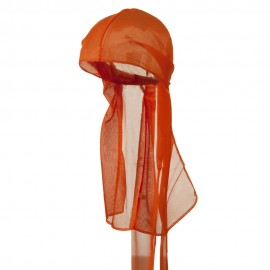 Satin Durag Cap - Orange