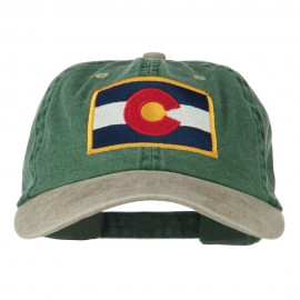 Colorado Flag Embroidered Two Tone Cap