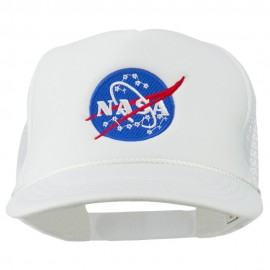 NASA Insignia Embroidered Youth Foam Mesh Cap - White