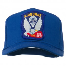 503rd Airborne Embroidered Patch Cap - Royal