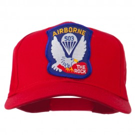 503rd Airborne Embroidered Patch Cap - Red