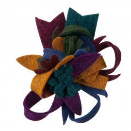 Fall Bright Corsage Flower Pin and Hair Clip - Bright