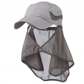 UV 50+ Folding Bill Cap with Detachable Flap