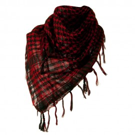 Flush Fashion Checkered Scarf - Red