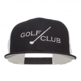 Golf Club Embroidered Mesh Snapback Cap