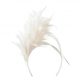Fancy Feather Fascinator - Ivory