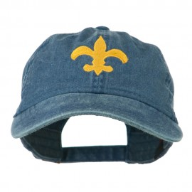 Fleur De Lis with Outline Embroidered Cap