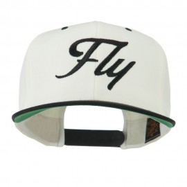 Fly Embroidered Flat Bill Cap