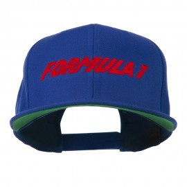 Formula 1 Embroidered Flat Bill Cap