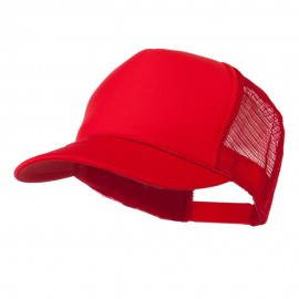 Foam Front Golf Style Mesh Back Cap - Red