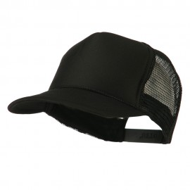 Foam Front Golf Style Mesh Back Cap - Black