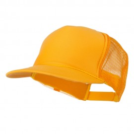 Foam Front Golf Style Mesh Back Cap - Gold