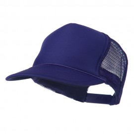 Foam Front Golf Style Mesh Back Cap - Purple