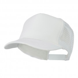 Foam Front Golf Style Mesh Back Cap - White