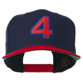 Arial Number 4 Embroidered Classic Two Tone Cap