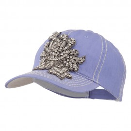 Ladies Flower Stone Trimming Cap