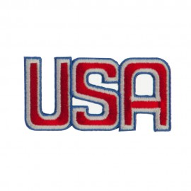 Flag Style Embroidered Patch - USA