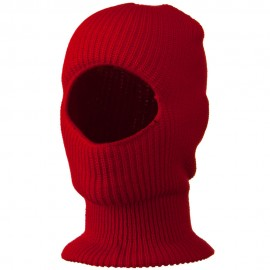 Face Mask with One Hole - Red