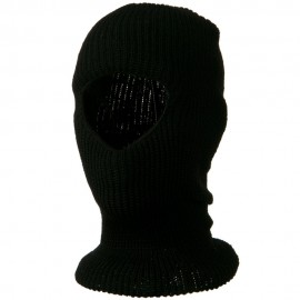 Face Mask with One Hole - Black