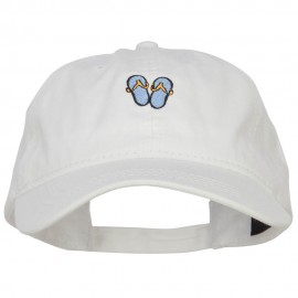 Mini Flip Flop Embroidered Washed Cap