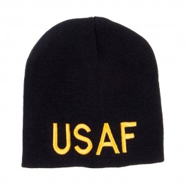 USAF Military Embroidered Short Beanie