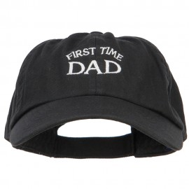 First Time Dad Letters Embroidered Low Cap
