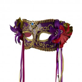 Mask with Flower and Ribbon