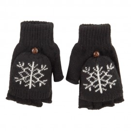 Women's Snowflake Flip Top Mitt Glove