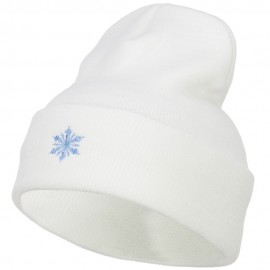 Snowflake Embroidered Long Beanie