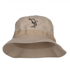 Fly Fishing Man Embroidered Big Golfer Hat