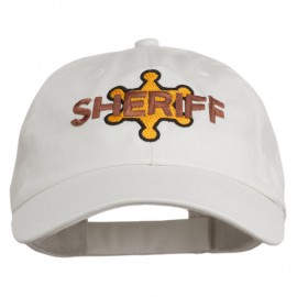 Sheriff Badge Embroidered Low Profile Cap
