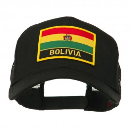 South America Flag Letter Patched Mesh Cap