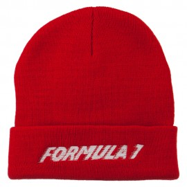 Auto Racing Formula 1 Embroidered Long Beanie