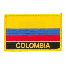 South America Flag with Name Embroidered Patch - Colombia