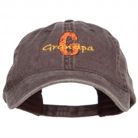 G for Grandpa Embroidered Washed Cap