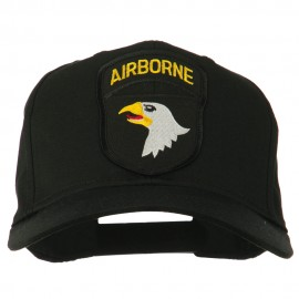101st Airborne Patched Cap - Black