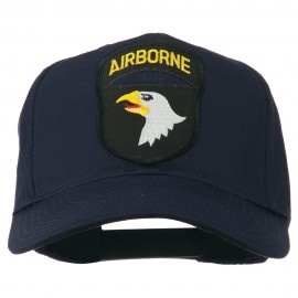 101st Airborne Patched Cap - Navy