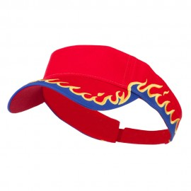 Cotton Twill Flame Visor - Red Royal Gold