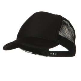 Youth Polyester Foam Golf Mesh Cap - Black