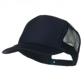 Youth Polyester Foam Golf Mesh Cap - Navy