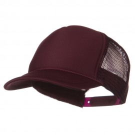 Youth Polyester Foam Golf Mesh Cap - Maroon