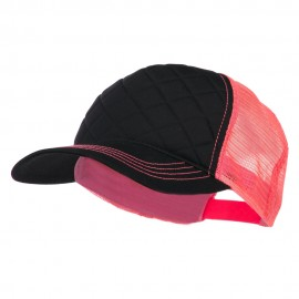 Fashion Quilted Trucker Two Tone Neon Mesh Cap