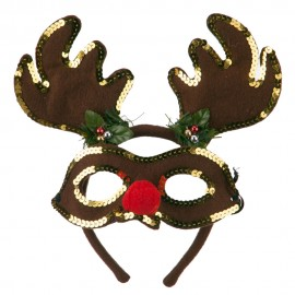 Felt Rudolph Mask and Antlers Set