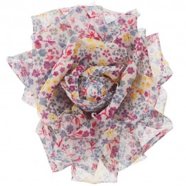 Fabric Rose Pin and Clip