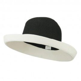 UPF 50+ Two Tone Roll Up Hat - Black White