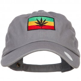 Rasta Leaf Flag Embroidered Unstructured Cap