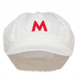 Fire Mario Luigi Embroidered Newsboy Cap