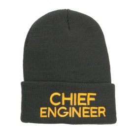 Chief Engineer Embroidered Long Beanie