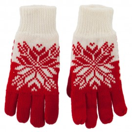 Fancy Snowflake Design Gloves