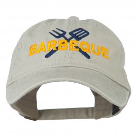 Barbeque Fork Spatula Embroidered Washed Cap